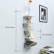 Load image into Gallery viewer, Driftingwood Wall Shelf Rack Curve Shape 5 Tier Wall Shelves - White Laminated