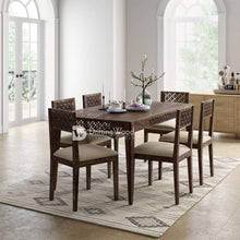 Load image into Gallery viewer, DriftingWood Sheesham Wood 6 Seater Dining Table Set for Living Room in Walnut Finish