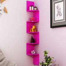 Load image into Gallery viewer, Driftingwood Zigzag Wall Mount Floating Corner Wall Shelf - Pink