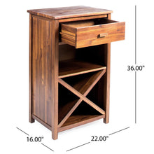 Load image into Gallery viewer, DriftingWood Solid Sheesham Wood Bar Cabinet Furniture for Home | Living Room | Natural Brown