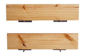 DriftingWood Floating Wall Shelf for Living Room | Set of 2 Wall Shelves | Pine Wood, Size 24 inch | Natural Finish