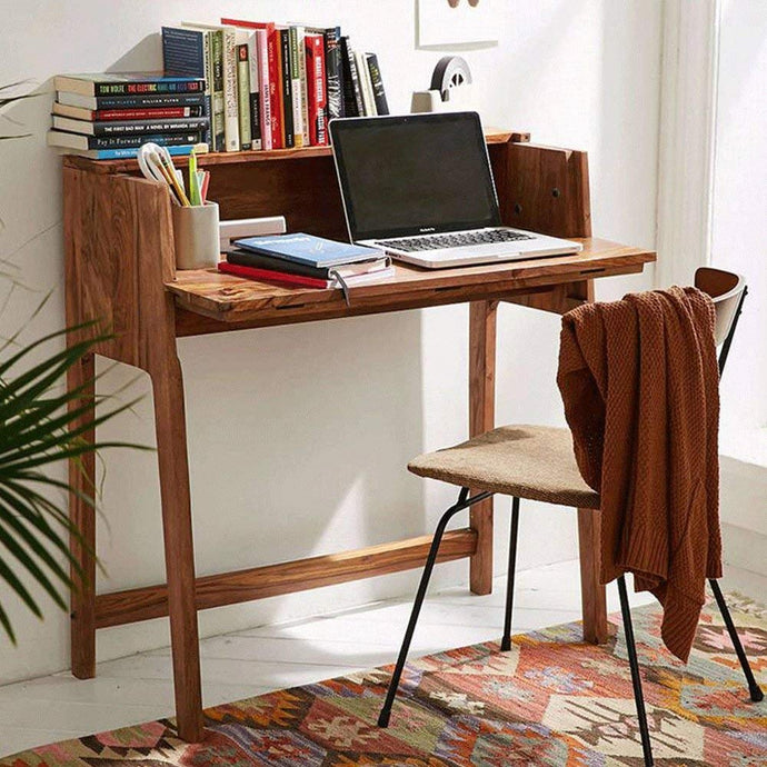 DriftingWood Sheesham Wood Writing Study Table for Home and Office | Study Dask | Honey Finish