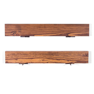 DriftingWood Floating Wall Shelf for Living Room | Set of 2 Wall Shelves | Pine Wood, Size 36 inch | Bourbon Finish