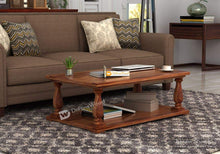 Load image into Gallery viewer, DriftingWood Sheesham Wood Barnett Center Table for Living Room | Coffee Table | Natural Brown