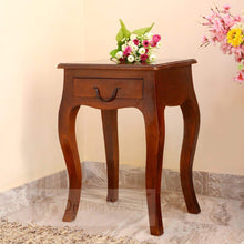 Load image into Gallery viewer, DriftingWood Sheesham Wood Curved Legs End Table For Living Room(Walnut Brown)