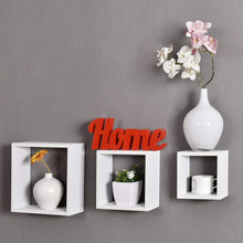 Load image into Gallery viewer, Driftingwood Nesting Square Shelf Set of 3 Shelves - White