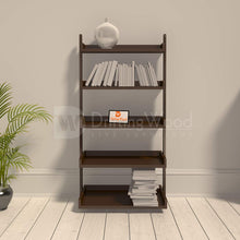 Load image into Gallery viewer, Driftingwood Wooden 5 Tier Ladder Shelf Bookcase for Living Room |Bookcase Divider | Brown Finish