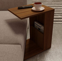 Load image into Gallery viewer, DriftingWood Wooden Bedside End Table with Magazine Holder for Home Living Room | Walnut Finish