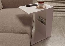 Load image into Gallery viewer, DriftingWood Wooden White Bedside End Table with Magazine Holder for Home Living Room