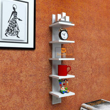 Load image into Gallery viewer, Driftingwood 5 Tier Floating Storage Wall Shelf - White Laminated