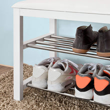 Load image into Gallery viewer, Driftingwood Sheesham Wood 2 Shelves Shoe Rack for Home | Shoe Rack Side Table White