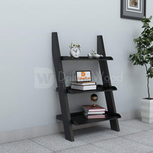 Load image into Gallery viewer, Driftingwood MDF Wooden Ladder Shelf Bookcase for Living Room - Matt Finish, Black