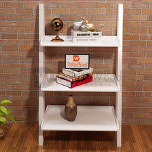 Load image into Gallery viewer, Driftingwood MDF Wooden Ladder Shelf Bookcase for Living Room - White