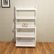 Load image into Gallery viewer, Driftingwood Wooden 5 Tier Ladder Shelf Bookcase for Living Room |Bookcase Divider | White Finish