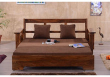 Load image into Gallery viewer, Driftingwood Solid SheeshamWood Jodhpuri Sofa cum Bed