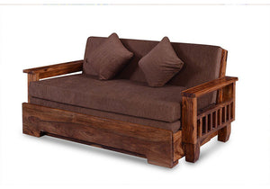 Driftingwood Solid SheeshamWood Jodhpuri Sofa cum Bed