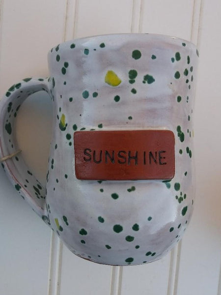 Handmade Clay Mugs-SUNSHINE (speckled)