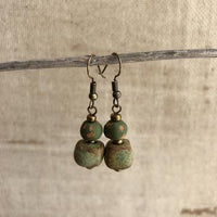 Papillon Rope Earrings (Olive)