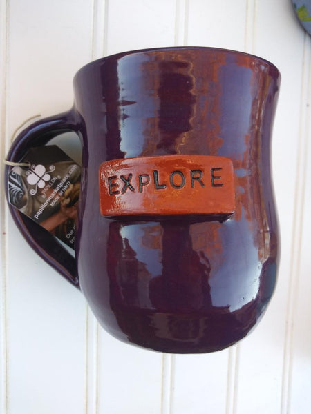 Handmade Clay Mugs-EXPLORE (purple)