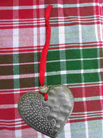 Recycled Metal Christmas Ornaments **Heart**