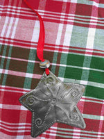 Recycled Metal Christmas Ornaments **Metal Star**