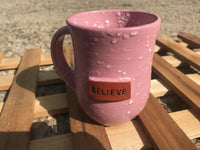 "Haitian Clay ""BLESSED"" Pottery Mug"