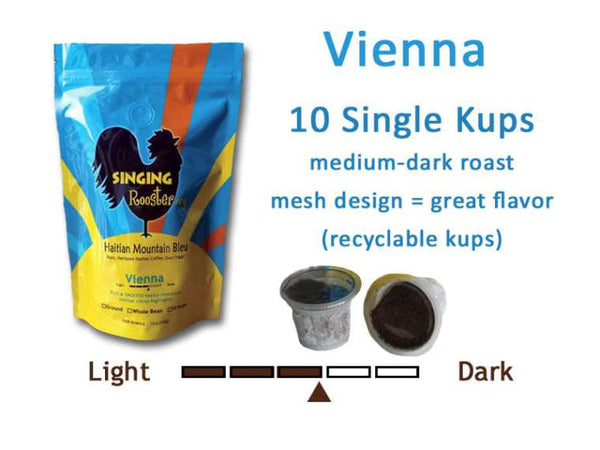 Singing Rooster Coffee K CUPS  Vienna