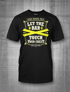 One More Rep Let The Bar Touch Your Chest Neon Yellow Men's T-shirt