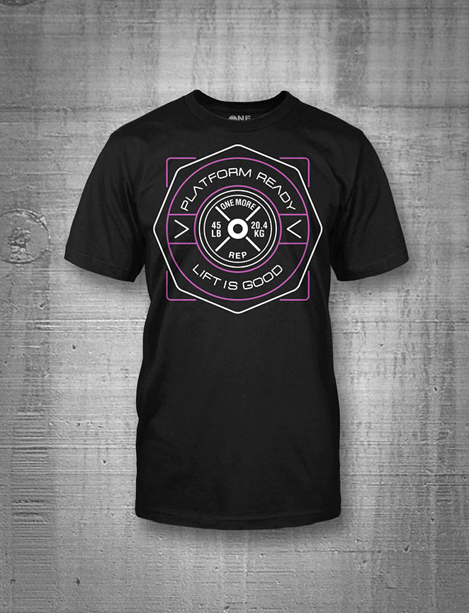 One More Rep Lift Is Good Purple Emblem Women's Tee