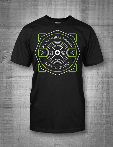 One More Rep Lift Is Good Green Emblem Men's Tee