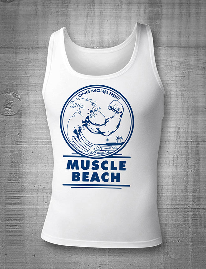 One More Rep Muscle Beach Tank Top