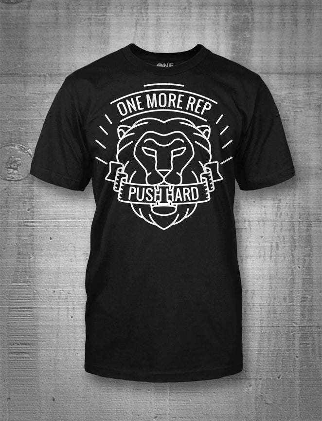 One More Rep Push Hard Lion Men's Tee