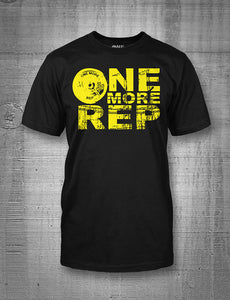 One More Rep Classic Logo in Yellow on Black T-Shirt