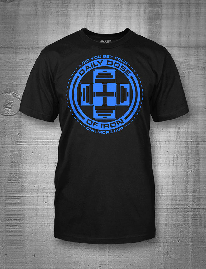 One More Rep Daily Dose of Iron In Blue Men's Tee