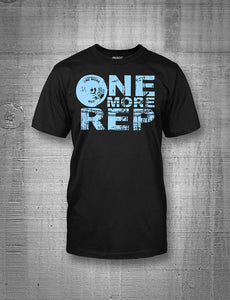 One More Rep Women's Baby Blue Classic Logo Tee