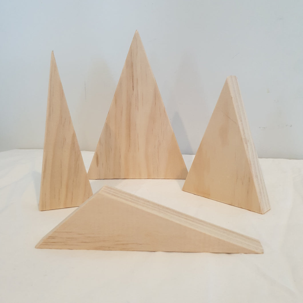 Handmade Wooden Mountains