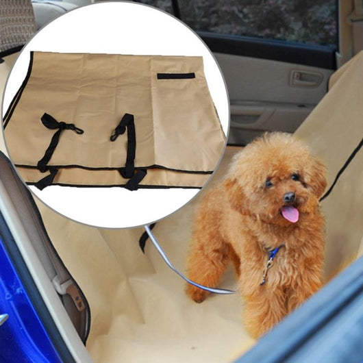 Waterproof Car Vehicle Pet Dog Cat Back Seat Cover Washable Linen Safety Sitting