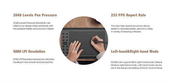 Professional 10 Inches Usb Graphic Tablet