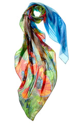 Captiva Cashmere Fine Art Poppy Princess Scarf Made in Italy