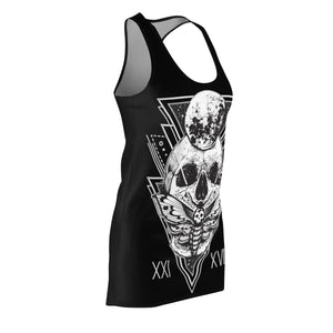 Exclusive HorrorWeb Moth Women's Cut & Sew Racerback Dress