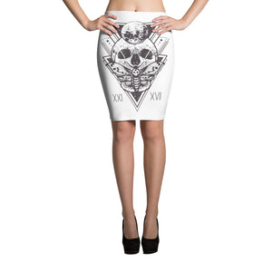 HorrorWeb Cryptic Moth Pencil Skirt