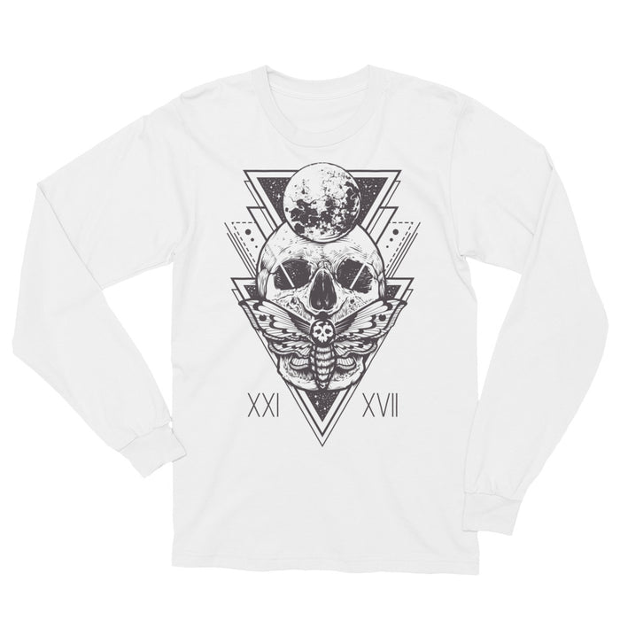 HorrorWeb Cryptic Moth Unisex Long Sleeve T-Shirt
