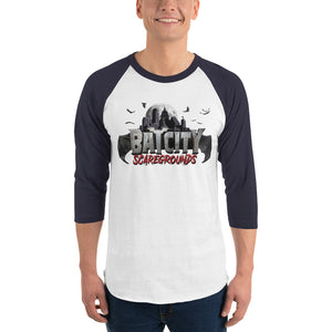 Official Bat City Scaregrounds 3/4 sleeve raglan shirt!