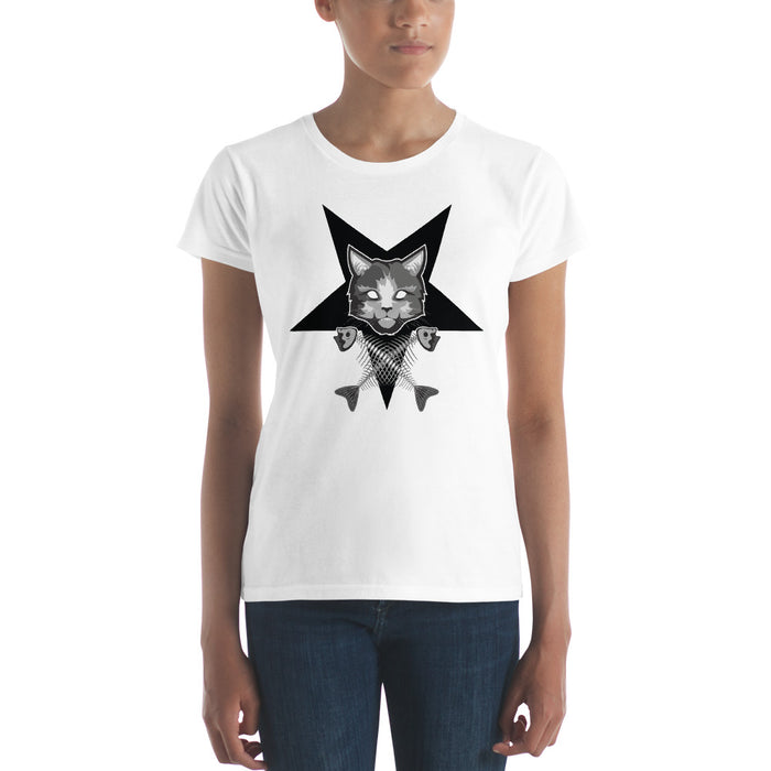 Pentagram Cat Women's short sleeve t-shirt