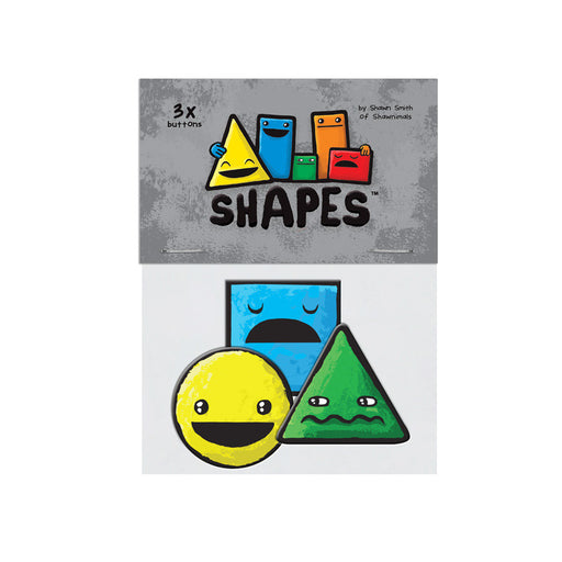 All Shapes button 3-pack