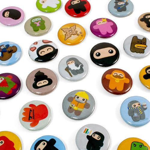 Ninjatown 1-inch button 5-pack