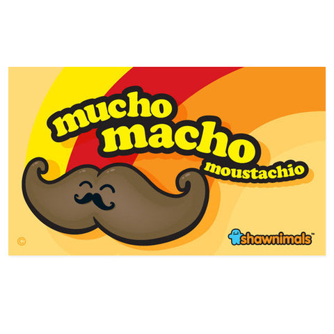 Mucho Macho Moustachio vinyl sticker