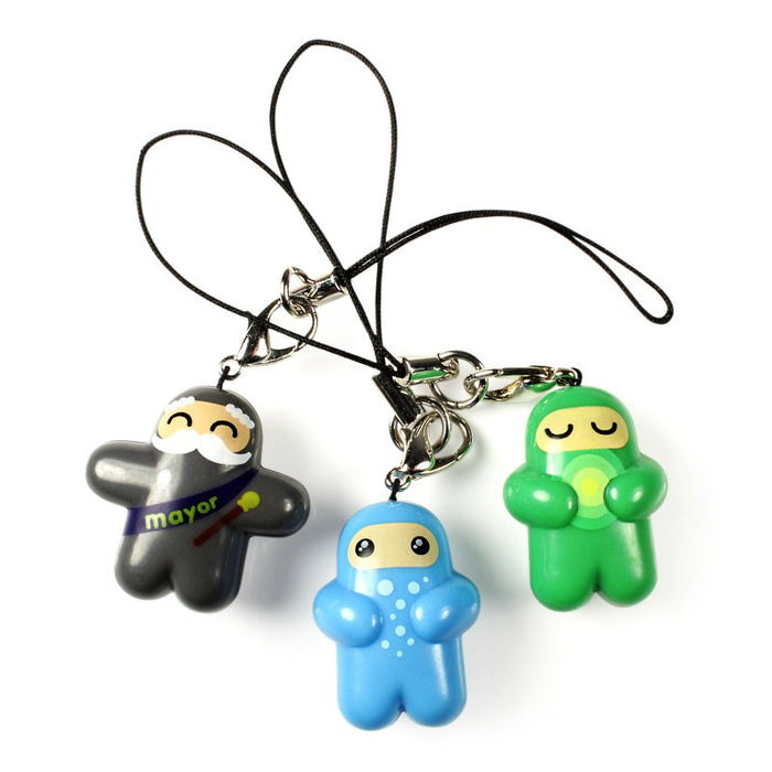 Ninjatown Zipper Charms