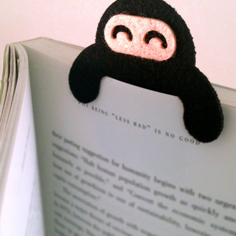 Wee Ninja Felt Bookmark