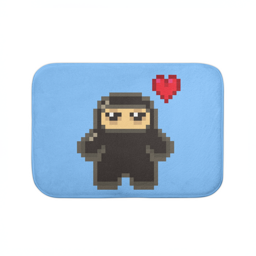 Pixel Ninja Love Bath Mat